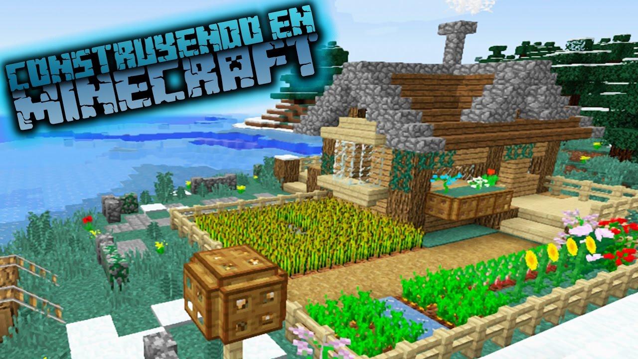 Como hacer una caba a sobre la nieve en minecraft para - Como construir una cabana ...