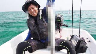 沖縄でだけ許された魚探改造2馬力でトローリング!