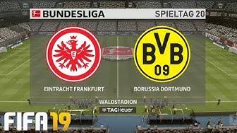 ⚽ FIFA 19 Bundesliga Eintracht Frankfurt : Borussia Dortmund 🏆 Gameplay Deutsch Livestream