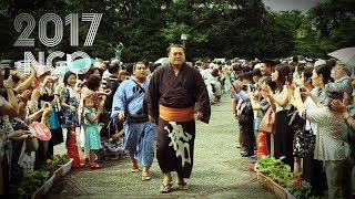 Top 50 sumo wrestlers are in the house. July, 2017 in Nagoya, Japan...