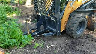 Case SV280 pulling up a tree s…