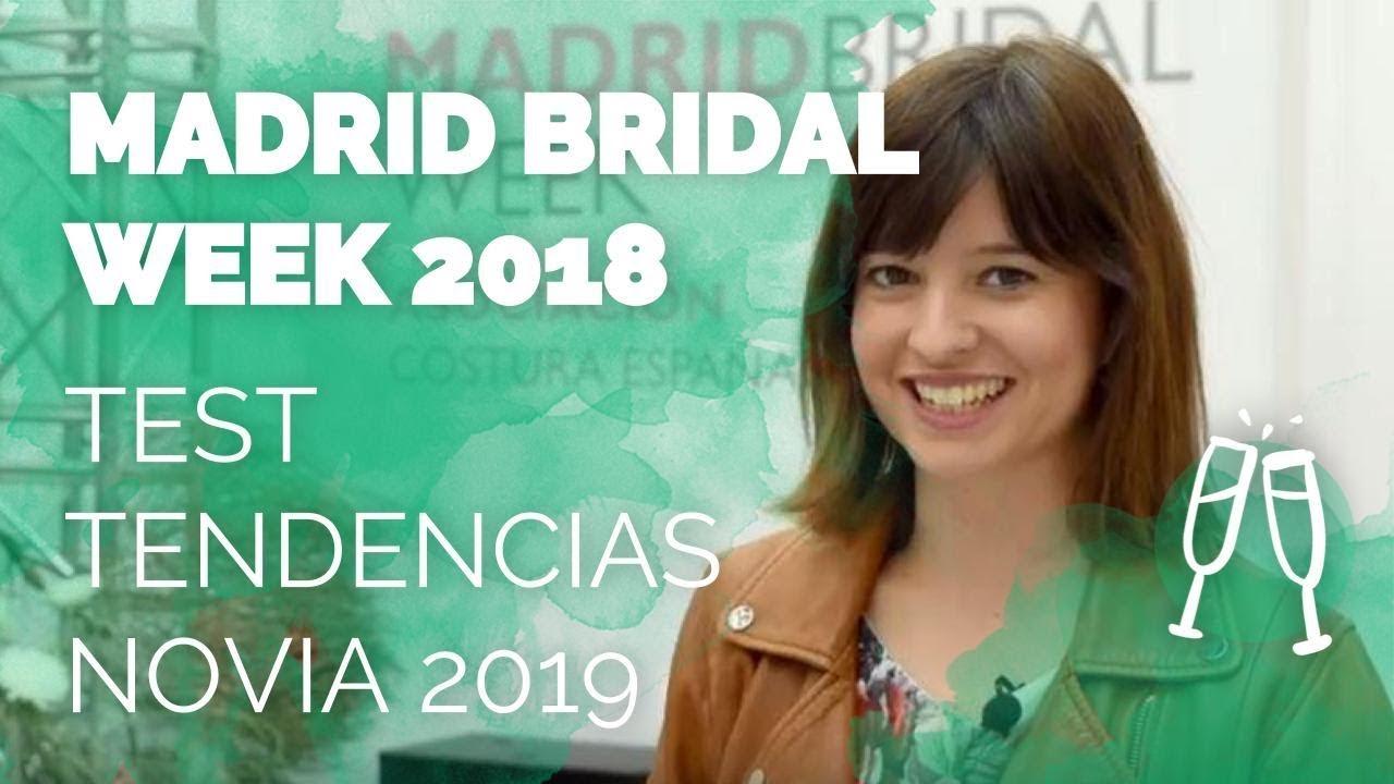 Tendencias novia 2019 - Madrid Bridal Week 2018 - YouTube
