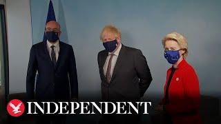 Boris Johnson meets with EU leaders amid Northern Ireland Protocol tension
