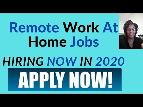 Remote Work at Home Jobs Hiring Now in 2020
