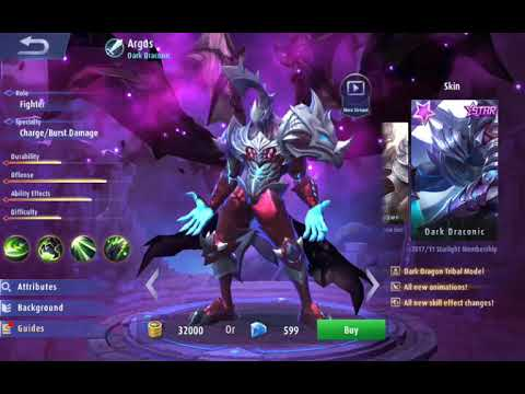 Mobile Legends: Argusu0027 New Skin Dark Draconic! - YouTube