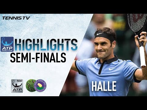 Highlights: Roger Federer, Alexander Zverev Advance To Halle Final 2017