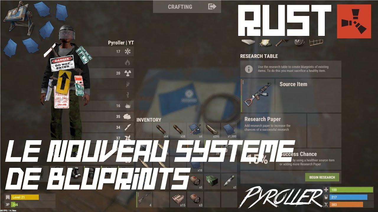 Tuto rust n6 le nouveau systeme de blueprints youtube tuto rust n6 le nouveau systeme de blueprints malvernweather Choice Image