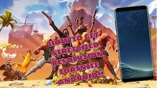 How to GET STRETCHED RESOLUTION on FORTNITE ANDROID!! HUGE FPS BOOST!