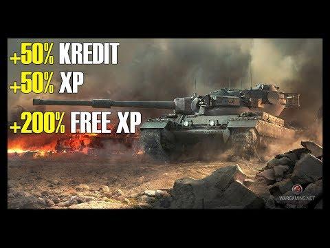 WoT | +50% kredit, +50% XP & +200% szabad XP | 2018-10-21