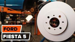 Hvordan bytte fremre bremseskiver og fremre bremseklosser på FORD FIESTA 5 [BRUKSANVISNING]