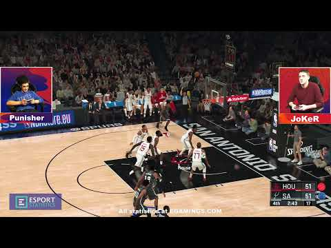 2020.01.07 ► Cyber NBA Central Division ► San Antonio Spurs (Punisher) - Houston Rockets (JoKeR)