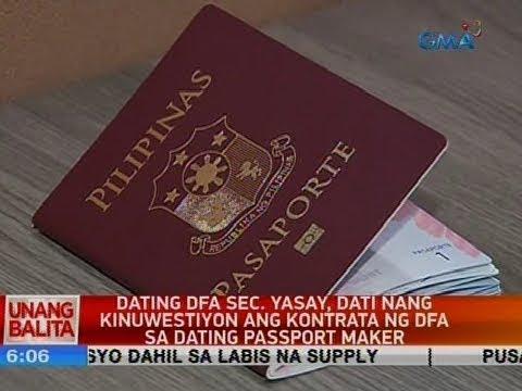 UB: Dating DFA Sec. Yasay, Dati Nang Kinuwestiyon Ang Kontrata Ng DFA Sa Dating Passport Maker