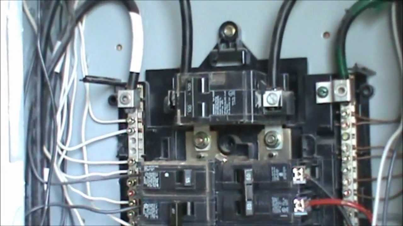 maxresdefault how to wire a 240 volt circuit see description youtube ge powermark gold load center wiring diagram at highcare.asia