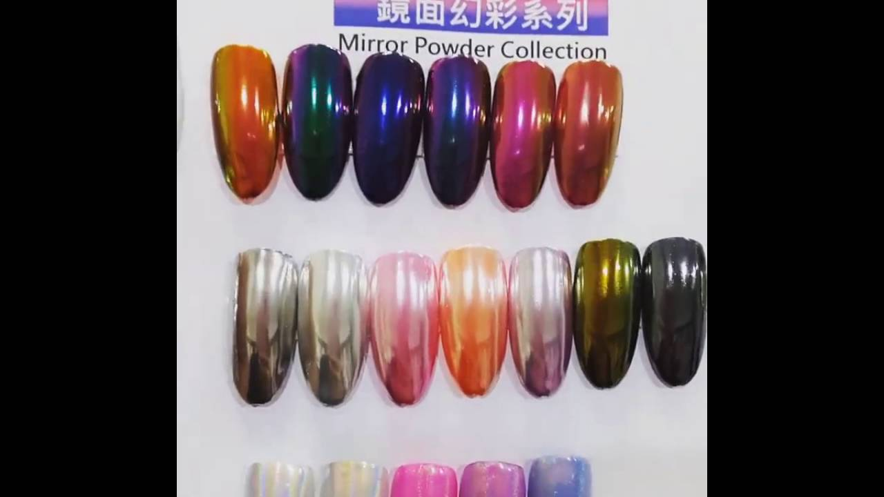 Best Chrome Powder From Ostar Nails Color Chart Youtube