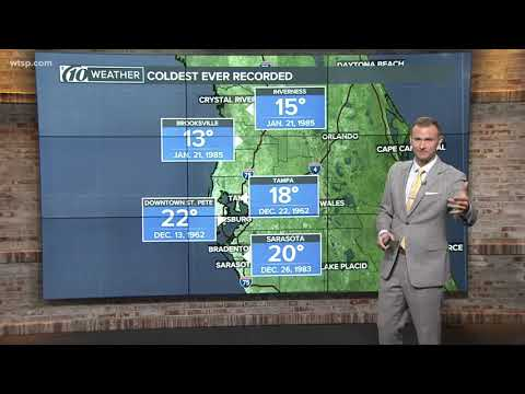 The Coldest Ever Temperatures Recorded In The Tampa Bay Area
