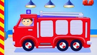 Пожарные машины для детей. Пожарная машина мультики машинки Мультик про пожарников для малышей.