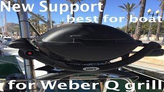 Erstellen Geländer-Halterung für Weber Q grill. Segeln Kanoa.