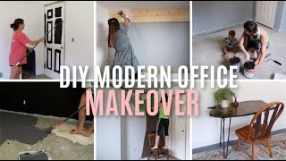 MODERN HOME OFFICE RENOVATION 2020 // DIY OFFICE MAKEOVER