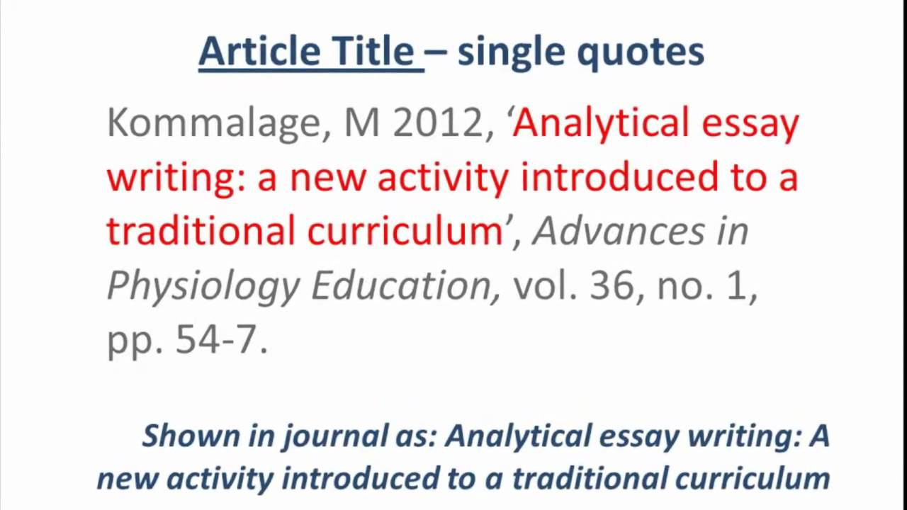 Apa references journal article