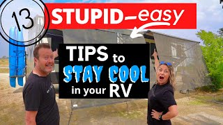 🔥 RV THE HOṪTEST SUMMER! (13 TIPS) HOW TO STAY COOL (WITHOUT HOOKUPS!)