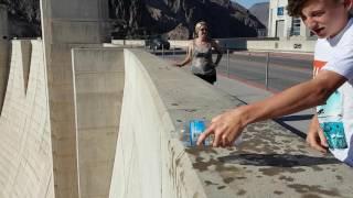 Hoover Dam Upside Down Water Trick  Nevada Arizona