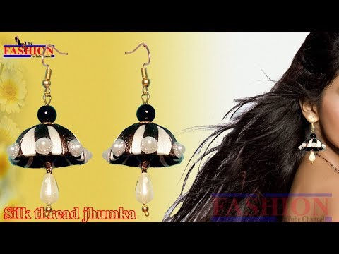 Jhumka | Silk Thread Jewelry | How to make Multicolored Jhumkas | Party Wear | The Fashion