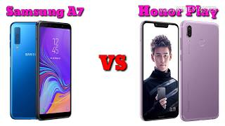 Samsung Galaxy A7 vs Honor Play Comparison || Specs and Features Overview || AS Talent Zone