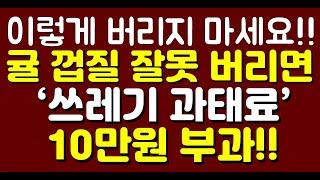 귤 껍질 잘못 버리면 '쓰레기 과태료 10만원' 부과!…