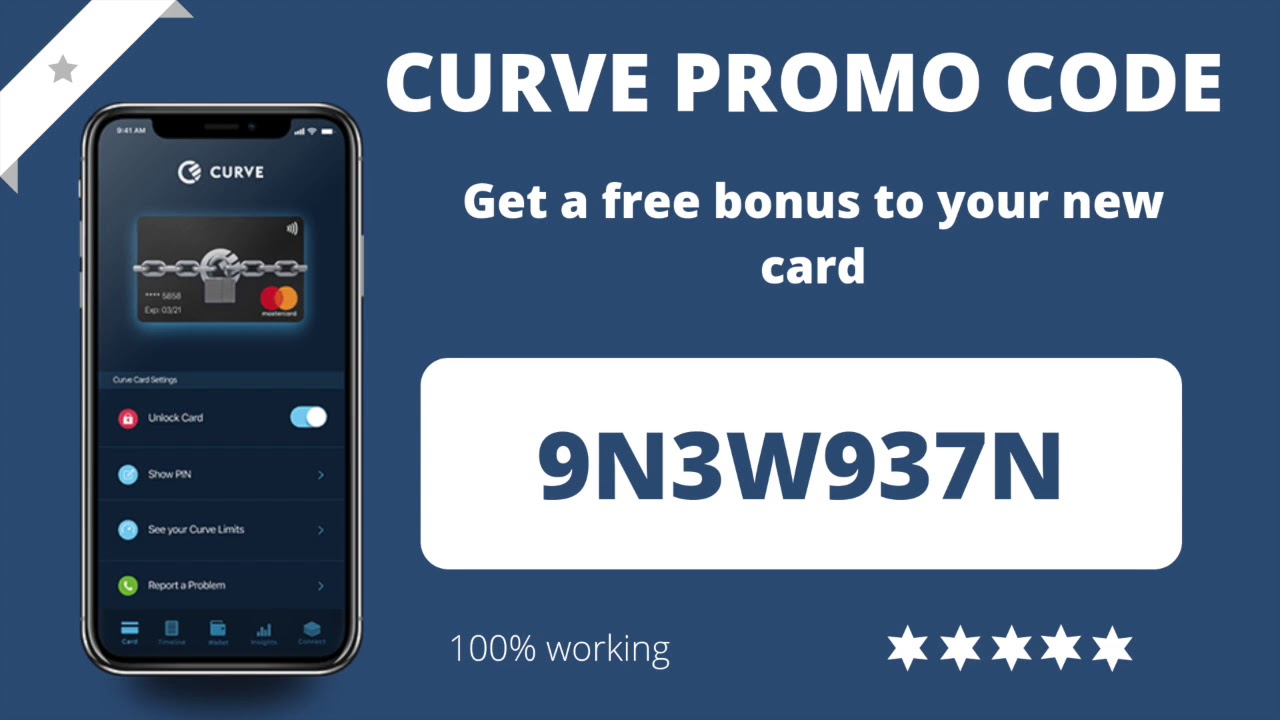 CURVE Card PROMO CODE (2019) - Get FREE 5£ credit | 100% working