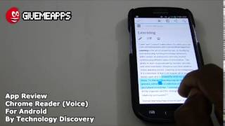 Chrome Reader for Android! Have Any Text Read Aloud In Chrome!