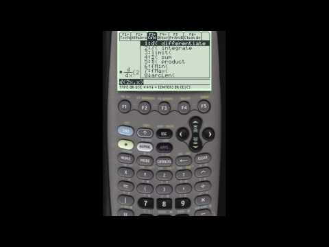 Finding Derivatives Using Your Ti Calculator