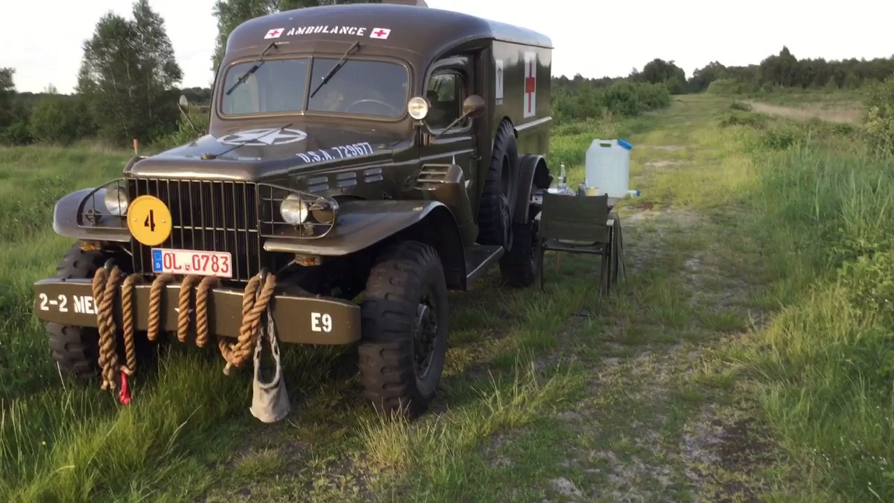 Dodge Wc 54 Ambulance Auf Deutschlandtour Youtube