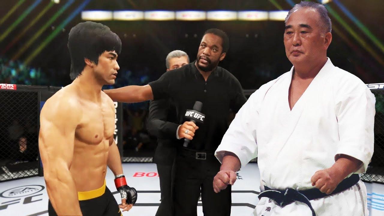 UFC 4   Bruce Lee vs. Taiji Kase (Karate) (EA Sports UFC 4)