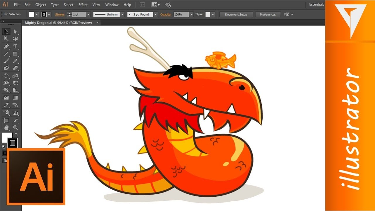 Angry Birds  Mighty Dragon  Drawing Illustrator (2d Animation) By James  Malo  Youtube