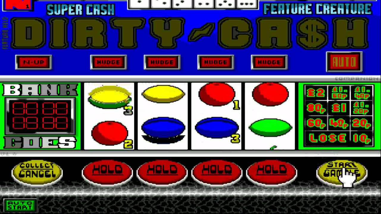 AMIGA Dirty Cash FRUIT MACHINE AMIGA OCS 1991 Cruxsoft Deja Vu Licenceware  AMOS adf STAR