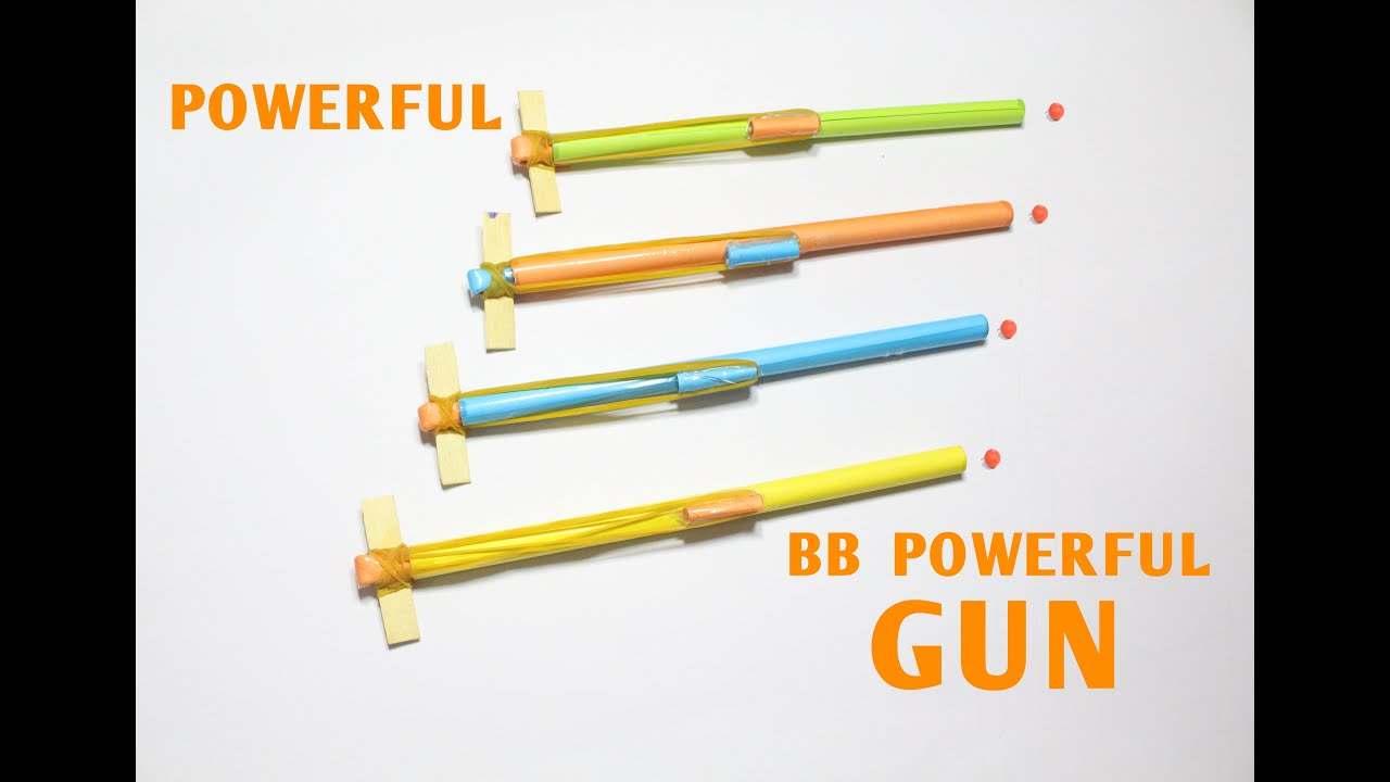 How To Make A Paper Pocket Pen Gun That Shoots Bb Bullets