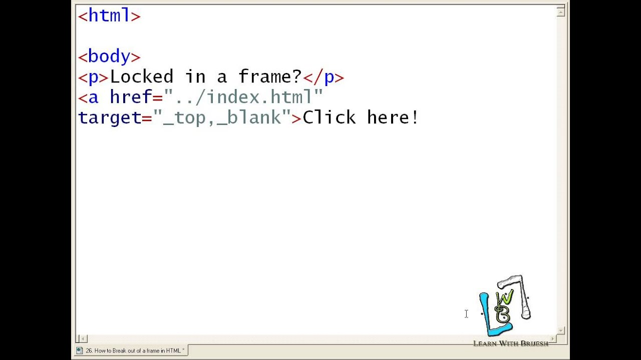 26 How to Break out of a frame in HTML - YouTube