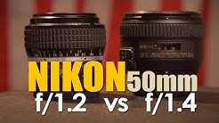 Nikon 50mm 1.2 vs 1.4 Lens Comparison