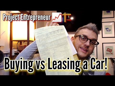 Buying vs Leasing a Car - Project Entrepreneur
