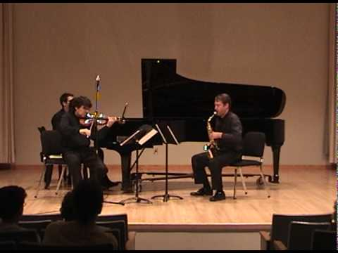 Trio for Violin, Saxophone and Piano, Mvt. 1 Allegro