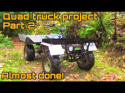 Homemade ATV quad truck part 2