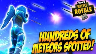 "Falling Meteors Spotted In Fortnite Battle Royale! | ""The End Of Tilted Towers Is Near!"""
