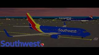 Roblox SFS Flight Simulator | Southwest Airlines Boeing 737-800 flight timelapse.