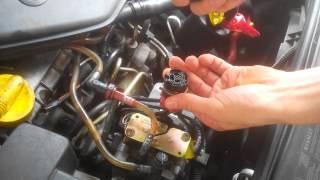 Enlever/remettre le connecteur de pompe a injectio