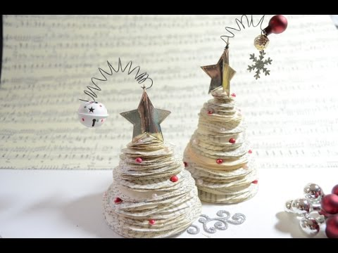 tutorial x mas tree mini weihnachtsbaum deko paperart. Black Bedroom Furniture Sets. Home Design Ideas