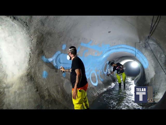 Arte no Subterrâneo • Zezão na Obra da Canalização da Telar