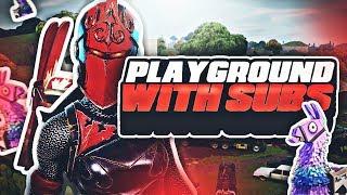 🔴 Playground With Subs (en anglais seulement) 💸 V Bucks Giveaway - France 🐔 plus de 1 100 victoires Plus de 24 000 morts . Fortnite BR (en)