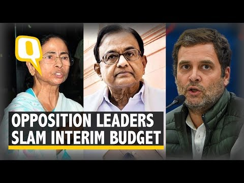 Opposition Slams Budget 2019, Rahul Gandhi Calls It an 'Insult' | The Quint
