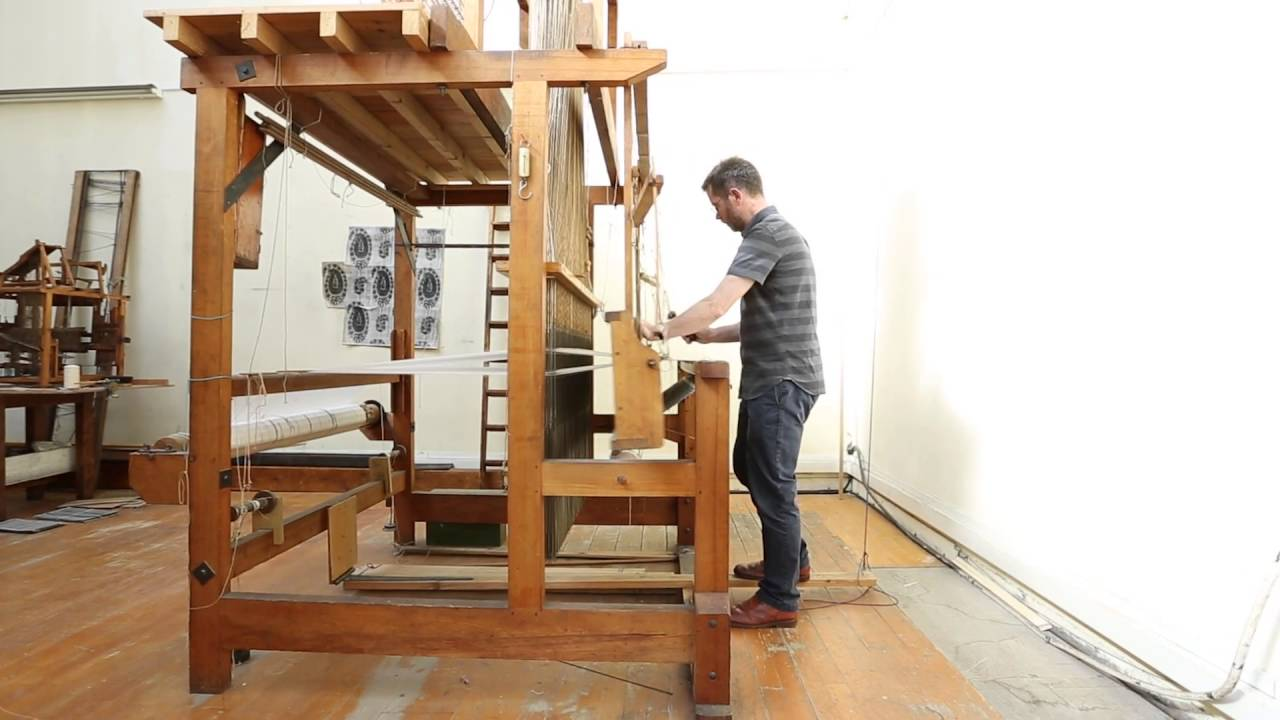 a jacquard loom in action youtube