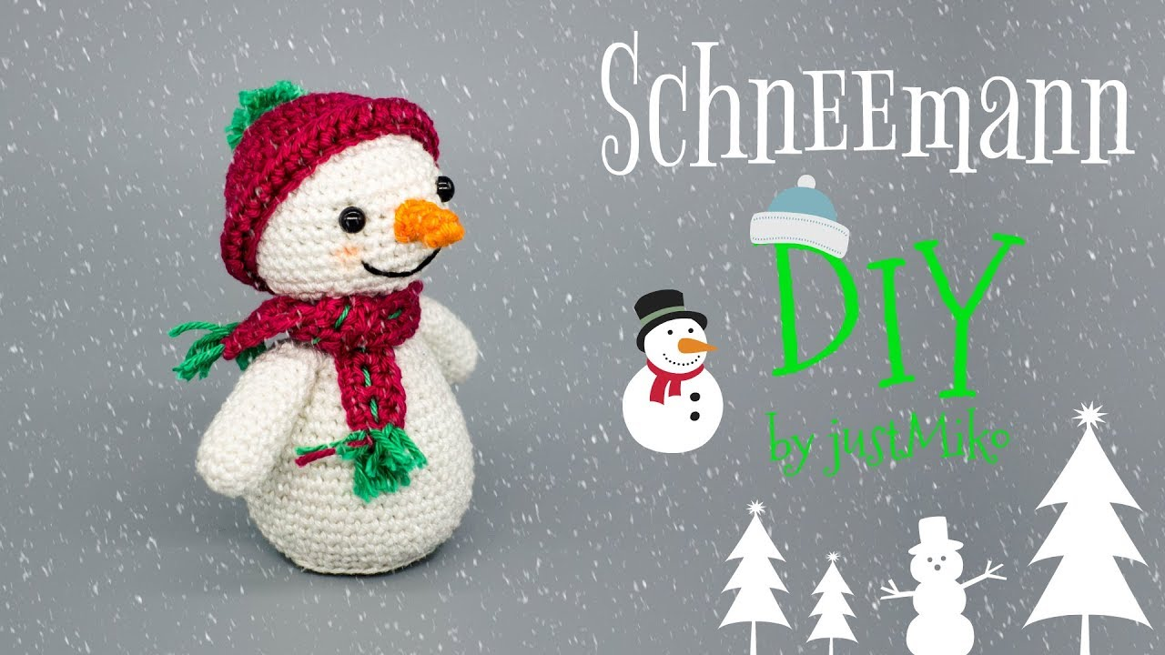 schneemann h keln do it yourself amigurumi weihnachten youtube. Black Bedroom Furniture Sets. Home Design Ideas